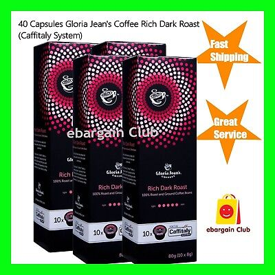 40 Capsules Gloria Jeans Coffee Rich Dark Roast Capsule Pod Caffitaly System
