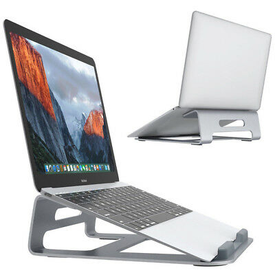 Aluminum Desktop Cooling Stand Holder Dock for MacBook Air/Pro PC Laptops Tablet