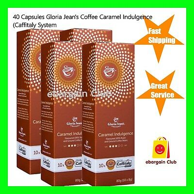 40 Capsules Gloria Jeans Coffee Carmel Indulgence Pod Caffitaly System eBClub