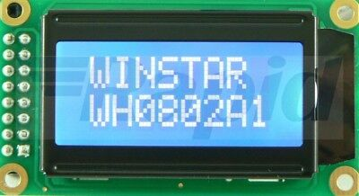 Winstar WH0802A-NYG-JT 8x2 LCD Display Reflective
