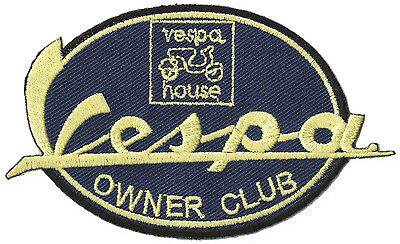 patche écusson ECUSSON brodé Vespa Owner Club thermocollant patch scooter