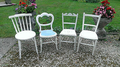 Four  Assorted  Vintage  Chairs