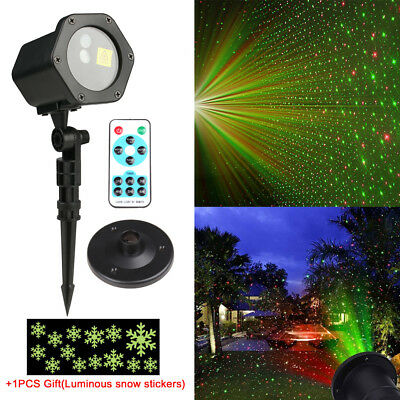 Waterproof Outdoor Christmas Lights LED Garden Lawn Laser Projector flash Light