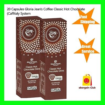 20 Capsules Gloria Jeans Coffee Classic Hot Chocolate Drink Pod Caffitaly