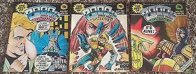 Lot Of 3 Best Of 2000AD Featuring Judge Dredd Monthly 23, 24, 26 1987