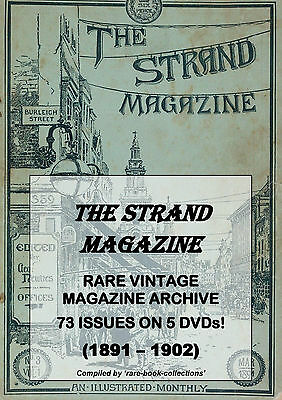 THE STRAND MAGAZINE - 73 RARE ISSUES (1891-1902) - VICTORIAN LONDON ART - 5 DVDs