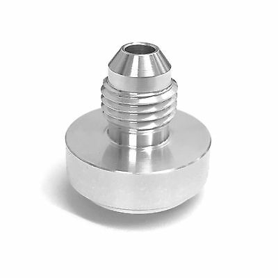 AN4 Male Aluminium Weld On Fitting - Round Base - JIC (AN -4 AN 04) - Pack of 2