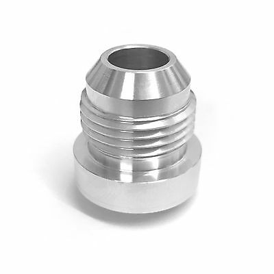 AN8 Male Aluminium Weld On Fitting - Round Base - JIC (AN -8 AN 08) - Alloy Pipe