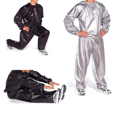 PVC Gym Exercise Fitness Training Sauna Sweat Suit Slimmer Weight Loss Anti-Rip