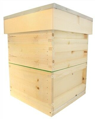 National Hive Complete Kit, Flat, Pine, With Wax Foundation apiary bs beehive