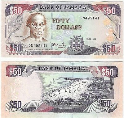 Jamaica 50 Dollars 2009 P-83d UNC Uncirculated Banknote