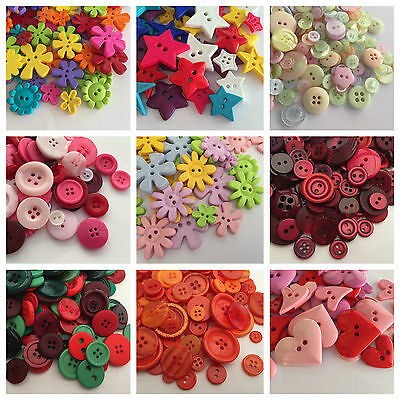 Assorted Mixed Buttons (Sewing Scrapbooking) Choice of pack sizes - from 99p