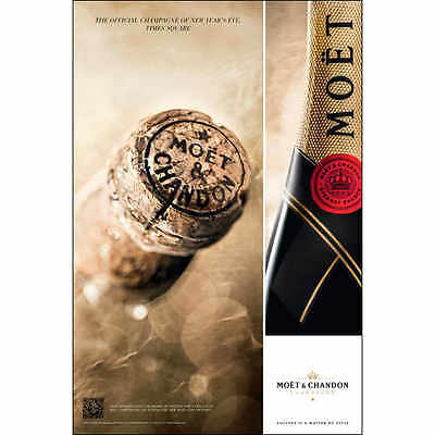 Moet Champagne Official New Years Eve Poster  24 By 36