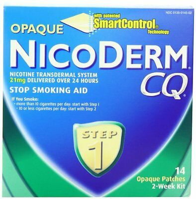 3 Pack - NicoDerm CQ Opaque Nicotine Patch 21 milligram (Step 1) 14 Each