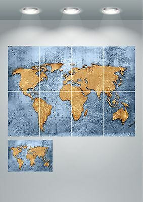 Vintage World Map Giant Wall Art poster Print