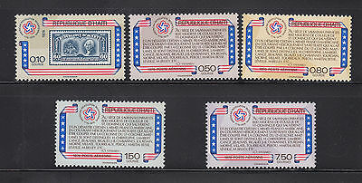 Haiti 1976 US Bicentennial Sc 696 and C434-37 complete mint never hinged