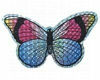 FBAS-GDCRFBACC52069-Clark Collection CC52069 Small Multi Colored Butterfly Door