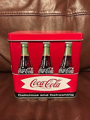 COCA-COLA LITTLE LUNCH BOX EMBOSSED TIN 5x5