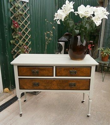 Edwardian 2 over 1 Chest of Drawers.