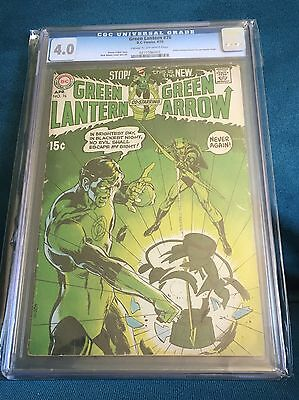 Green Lantern #76 CGC 4.0 CR/OW Pages (Apr 1970, DC Comics)  Neal Adams