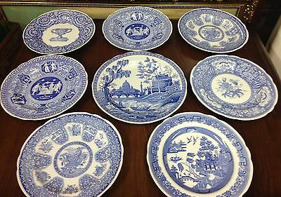 8 Spode Plates - Blue Room Collection - Different Designs