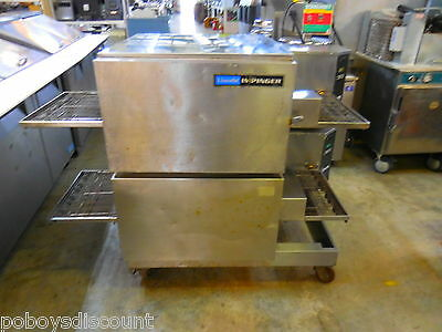 "Lincoln 1116-062-AR 56"" 2 Double Stack Conveyor Belt Pizza Oven Natural Gas"