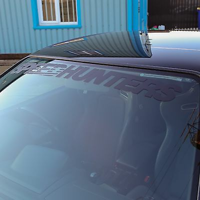 Speedhunters Matte Black Screen Header /windshield Banner -Official Merchandise