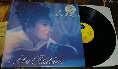 """K.D. Lang - Miss Chatelaine - UK 12"""" With Poster"""