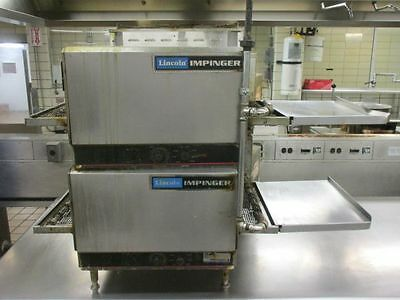 Lincoln Impinger 1301 Electric Double Stack Conveyor Pizza Oven W/ Extensions