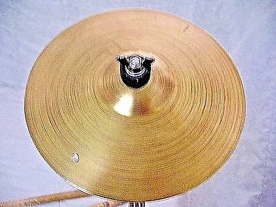 "VINTAGE Old 1950s 7"" CONN Splash Accent RIVET Special Effect Cymbal 168g WWSHIP"