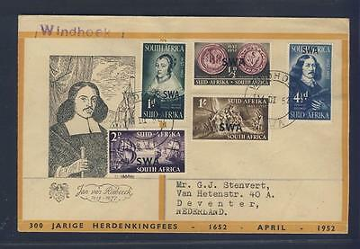 (E67686) South West Africa 1952 Cover From Windhoek To Deventer/holland
