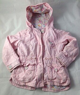 Girls Next Pink Hooded Coat Age 2-3 Years
