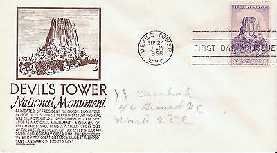 Scott #1084 FDC - Devil's Tower with an Anderson cachet