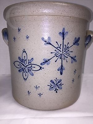 *RPW*Rowe Pottery Salt Glazed*2004* SNOWFLAKE* Crock #16302G