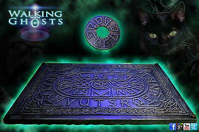 Glass Topped Table Ouija Spirit Talking Board Celtic Clairvoyant Divination UK