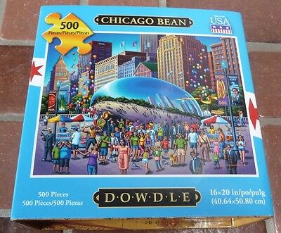 """Dowdle 500 Piece Jigsaw Puzzle of Chicago Bean (16"""" by 20"""")"""