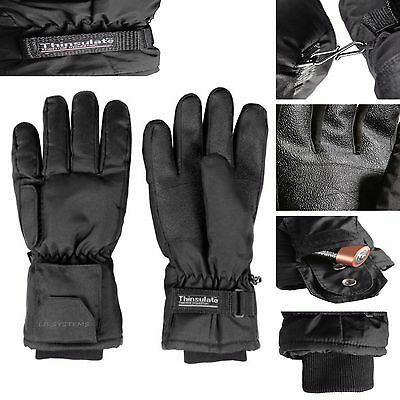 Heated Gloves Battery  Women Ladies Thermal Winter Electric Fishing Skiing NEW