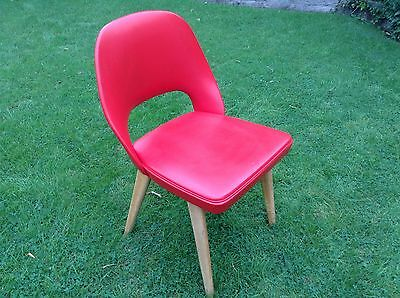 Vintage retro 1950's / 1960's red office / desk / dining room chair