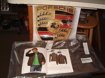 Nos Porsche Design Driver's Selection Men's Windbreaker In Brown. Usa Size S.