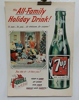 LOT OF 10 VINTAGE 7up 7 UP MAGAZINE ADS. 1950'S 60'S.SODA ADVERTISING