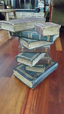 Maitland Smith Stacking Book Table Stand Carved Solid Wood