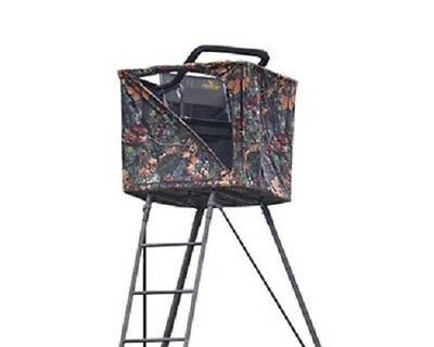 NEW Rivers Edge RE741 1 Person 14' Perimeter Pod Hunting Ladder Stand w/ Curtain