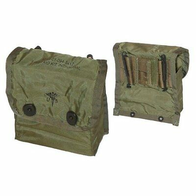 US Army First Aid Medical Pouch Erste Hilfe Tasche OD Green mit Alice Clips