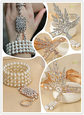 Headband The Great Bridal Headpiece Pearls Stretch Bracelet Ring