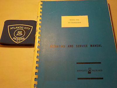 Hewlett Packard 745A Ac Calibrator Operating And Service Manual