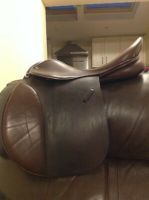 """GFS Fieldhouse Brown 17.5"""" extra wide GP saddle"""