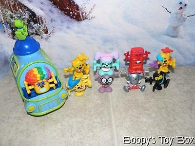 Wow Wow Wubbzy lot of 9 stackable figures and talking wubmobile