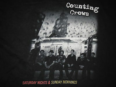 Counting Crows Saturday Nights Sunday Mornings Graphic Rock T-Shirt Mens XL