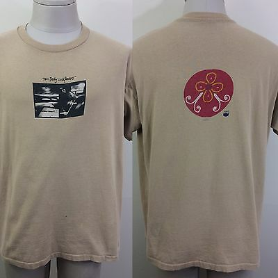 VTG 1995 Tom Petty Wildflowers Beige 2-sided Concert Tour T Shirt Size XL L