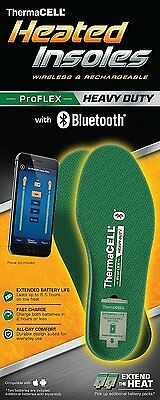 ThermaCELL ProFLEX Heavy Duty Bluetooth Heated Insoles, Rechargeable, M-2XL
